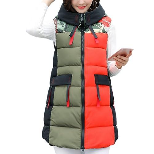 Zhhaijq Caliente para el invierno Fashion Feather Cotton Vest Autumn Winter New Korean Large Size Ho...