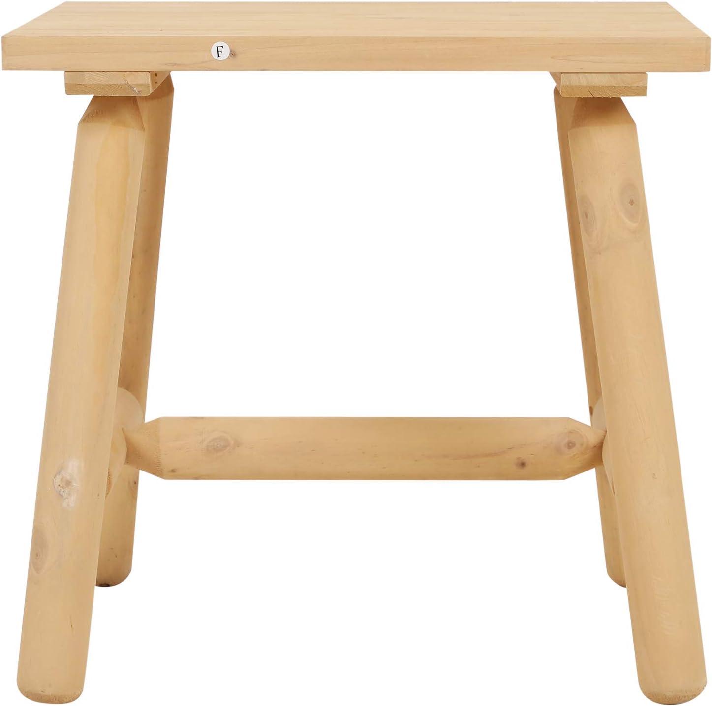 Outsunny Beistelltisch Gartentisch Kaffeetisch Teetisch Holztisch Tisch Allzweck Tannenholz Natur 50 x 50 x 48 cm