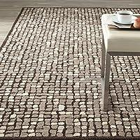 Overstock.com deals on Martha Stewart by Safavieh Mosaic Wampum Purple Wool Rug