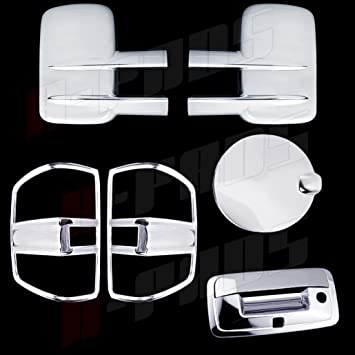 Chrome Covers Set For Chevy SILVERADO+HD 2014 2015 2016 Doors+Tail Lights