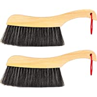 Soft Cleaning Brush -2PCS Wood Handle Hotel Family Clothes Dust Hair Sofa Bed Sheets Bedspread Carpet Cleaning Natural…