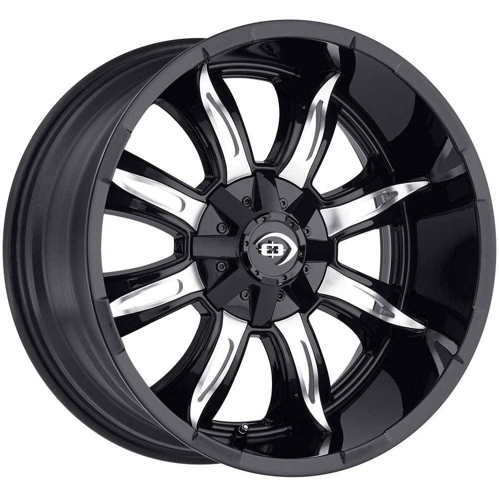 20 x 10. inches //6 x 139 mm, -25 mm Offset Vision 423 Manic Gloss Black Machined Face Wheel Finish