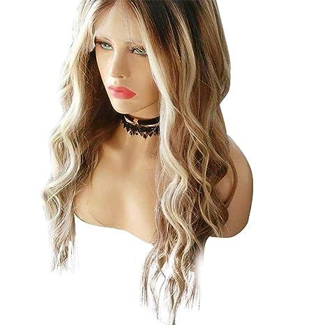 Pelucas sintéticas, peluca de las mujeres peluca larga rizada ...