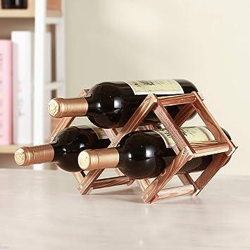 Amazoncom Tenzep 3 Bottle Wine Rack Tabletop Wine Rack Real Wood