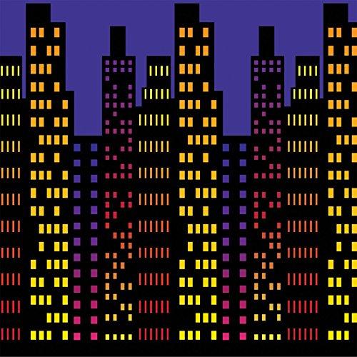 Cityscape Backdrop Party Accessory (1 count) (1/Pkg)
