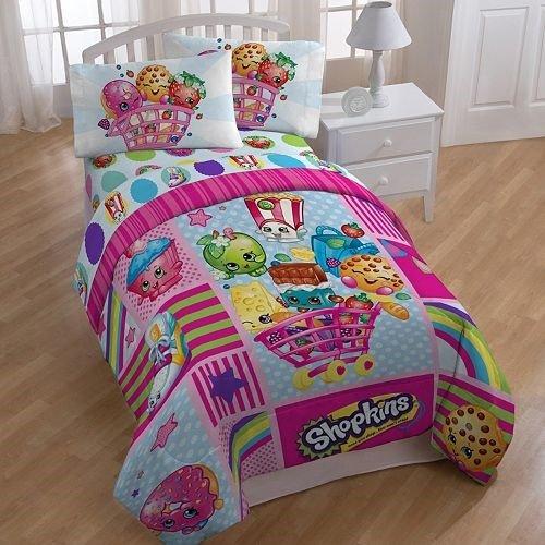 Shopkins Patchwork Reversible Comforter - Twin Size