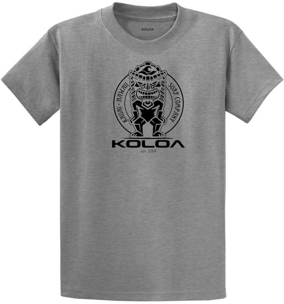 (コロア) Koloa サーフティキのロゴコットンTシャツ レギュラー ビッグ トールサイズ B074DBTQZW 4L Athletic Heather (90/10 Cotton/Poly) Black Logo Athletic Heather (90/10 Cotton/Poly) Black Logo 4L