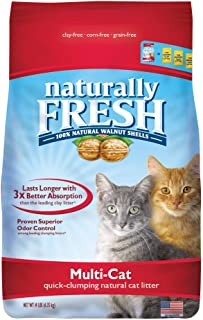 product image for Naturally Fresh Cat Litter - Walnut-Based Quick-Clumping Kitty Litter, Unscented, Multi-Cat, 14 lb