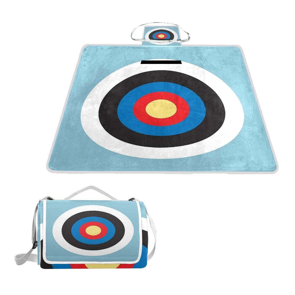dise/ño de Tiro con Arco Sotyi-ltd Bulls Eye Right On Target Manta de Picnic para Exteriores