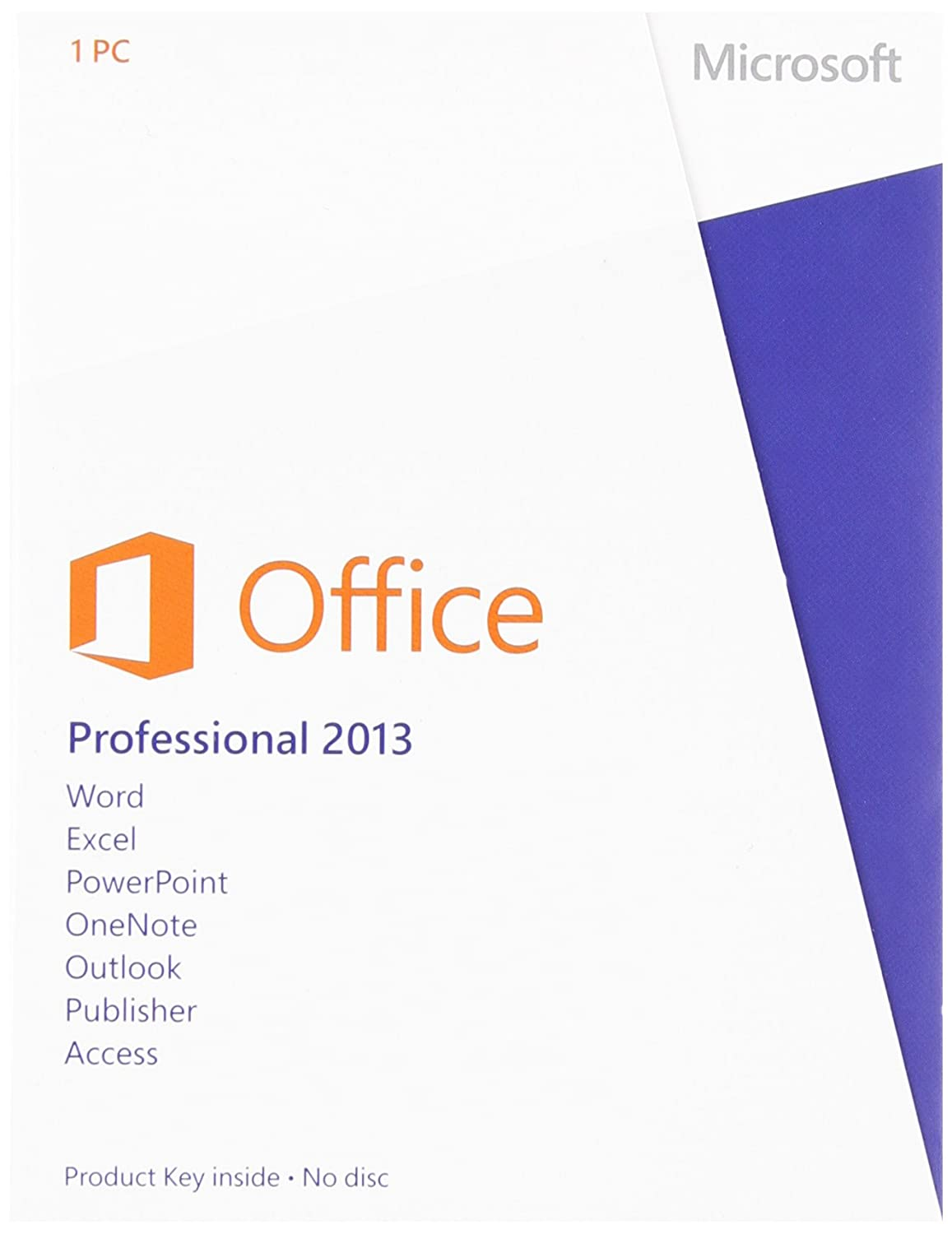 Amazon.com: Office Professional 2013 Key Card 1PC/1User: Microsoft ...
