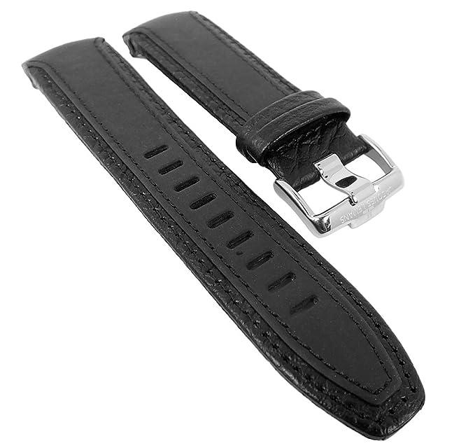 LeMans Liverpool Day Date para banda reloj de pulsera material Mix Caucho/banda de piel compatible con Jacques 1 - 1635, colores: Negro/Negro/S: Amazon.es: ...