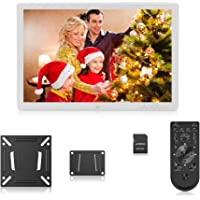 Andoer 17 inch LED Digital Photo Frame with Remote Control (White)