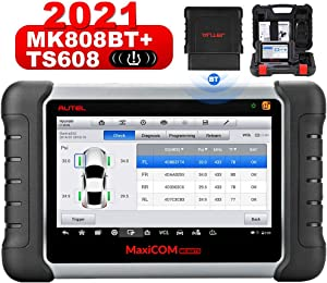 Autel Scanner MaxiCOM MK808TS, Combination of Autel MK808BT and TS608, OE-Level TPMS Scanner with 28+ Service Functions, All Systems Diagnoses, Activate/Program/Relearn TPMS Sensors