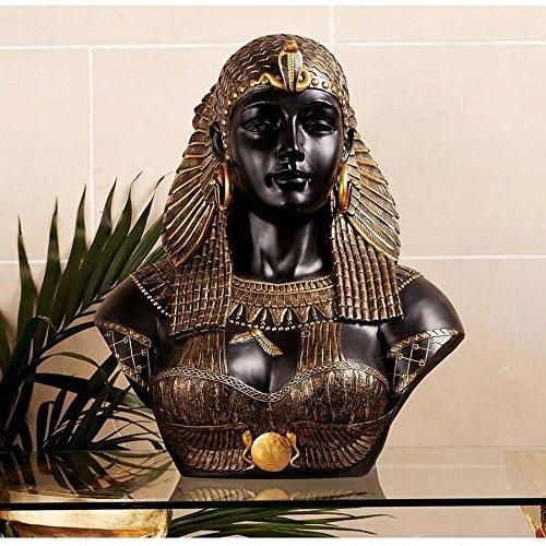 "21"" Museum Replica Queen Cleopatra Sculpture Statue Bust"