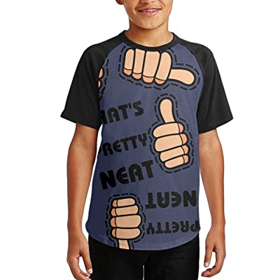 That's Pretty Neat Youth Short Sleeves Raglan Print Baseball T Shirts Tops
