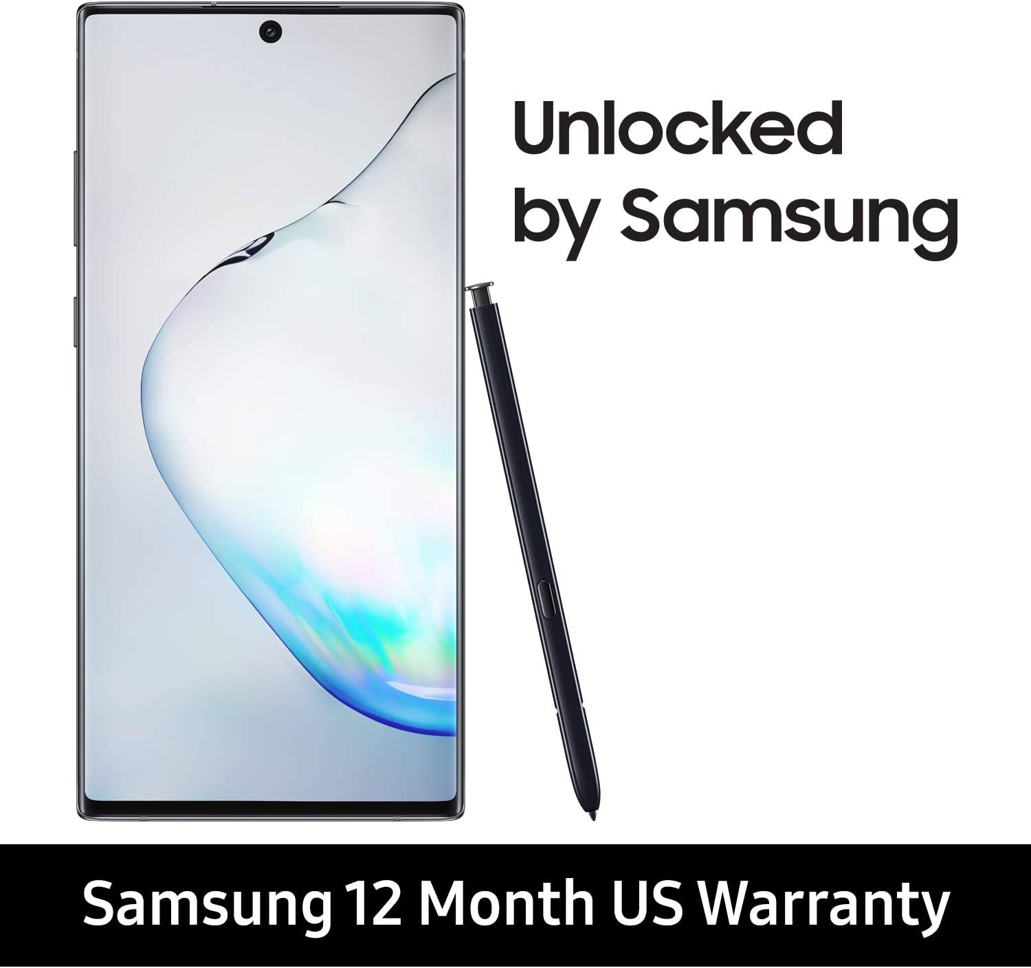 Samsung Galaxy Note 10+ Factory Unlocked Cell Phone with 256 GB (U.S. Warranty), Aura Black/ Note10+