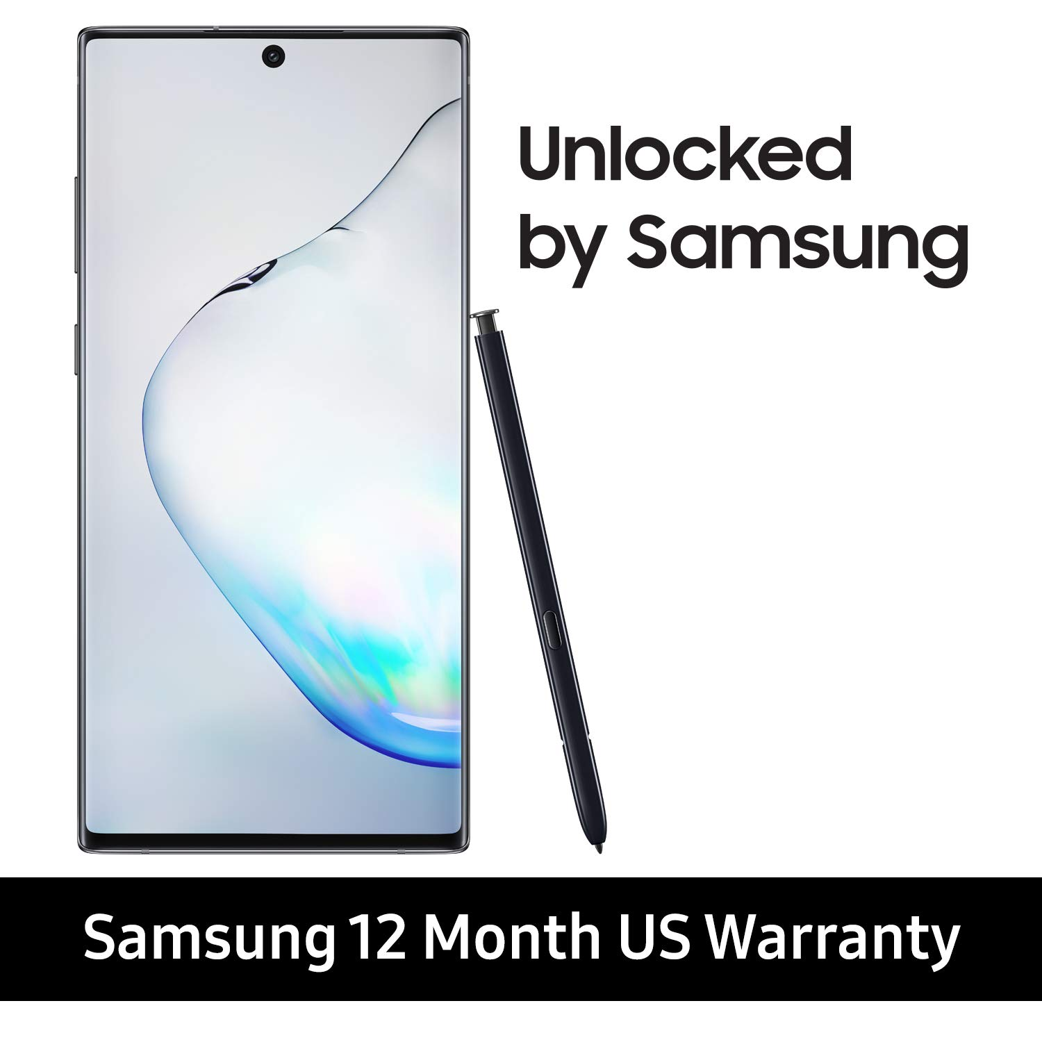 Samsung Galaxy Note 10+ Plus Factory Unlocked Cell Phone with 256GB (U.S. Warranty), Aura Black/ Note10+ by Samsung