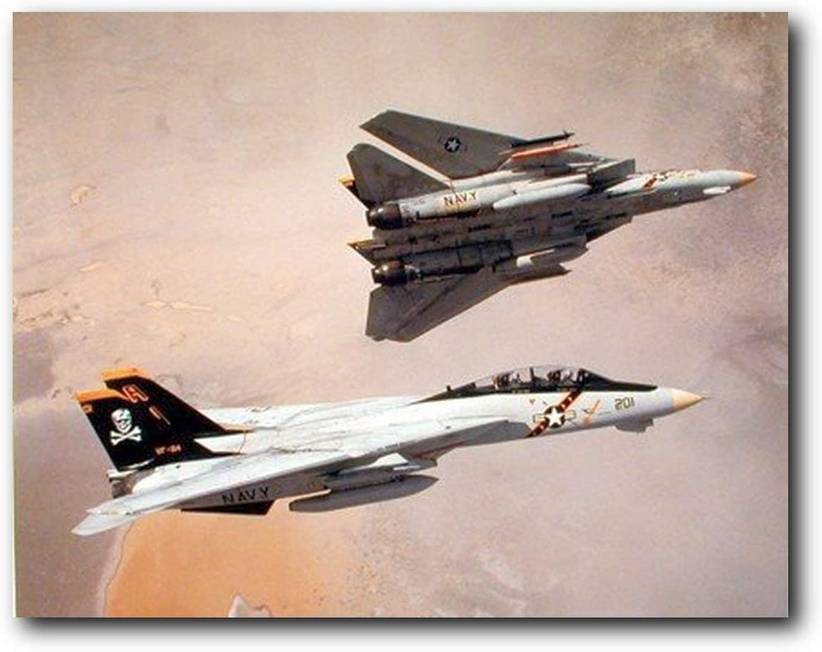 Aircraft Wall Decor F-14 Tomcat Airplane Aviation Jet Airplane Pictures Art Print Poster (16x20)