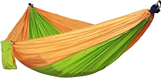 DaiHan Hamacas Colgantes, Tienda de Campaña, Hamacas Jardin Portátil y Ultra-Ligera, para Interiores, Exteriores, Jardín, Viaje, Senderismo, Excursión, Playa Amarillo Verde M: Amazon.es: Jardín