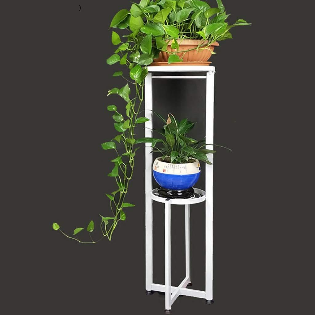 servizio di prima classe Rack Flower Stand Iron Art Landing Semplice e Moderno Moderno Moderno Vaso portavivande Cavalletto verde Balcone verde (colore   B, Dimensioni   32  32  85cm)  compra meglio