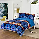 Southwest Design (Navajo Print) King Size 3pcs Set 16112 Royal Blue