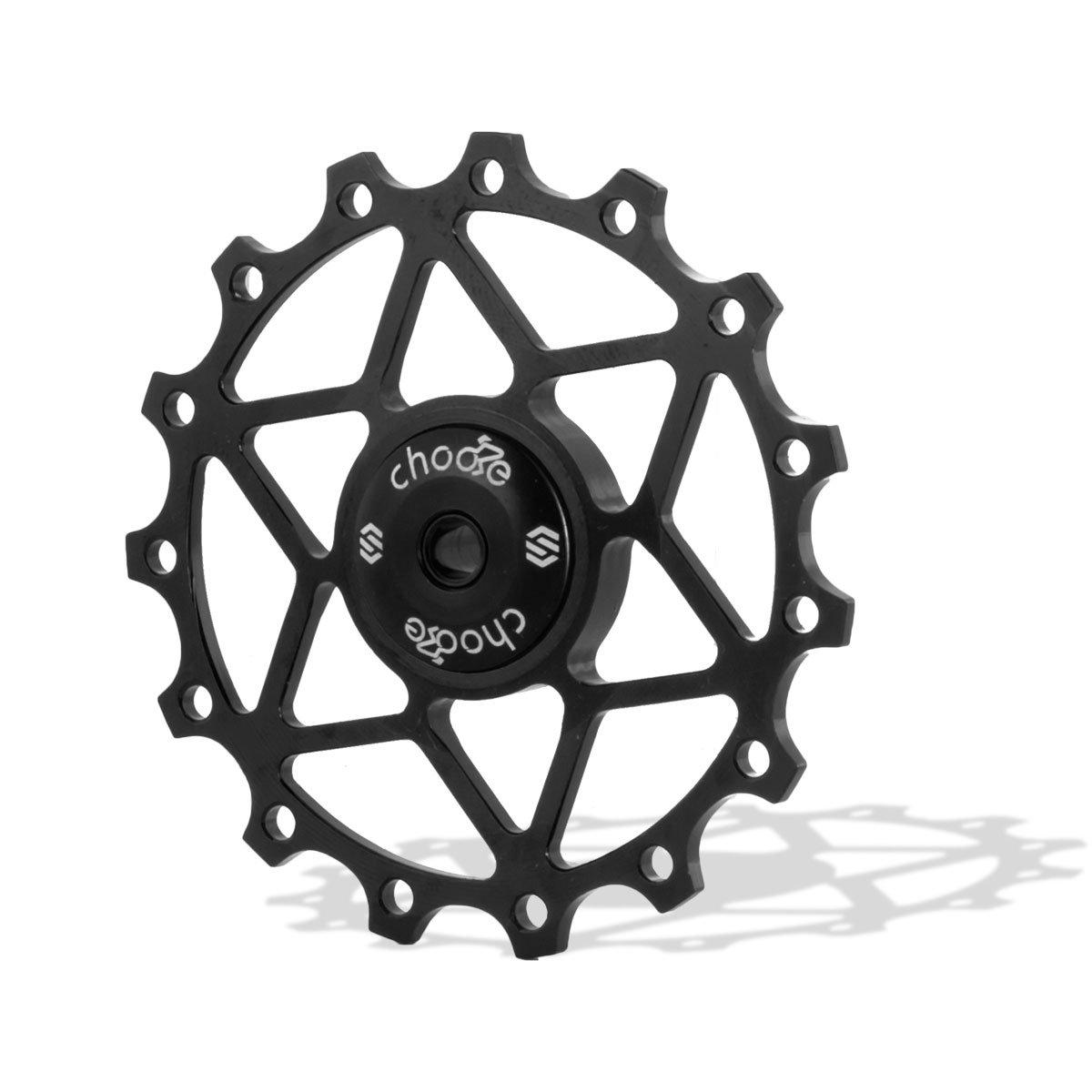 Chooee Black Ceramic Bearing 15T Rear Derailleur Jockey Wheel Pulley Shimano SRAM by Chooee