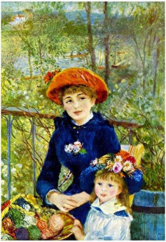 Pierre-Auguste Renoir On the Terrace Art Print Poster 13 x 19in (The On Renoir Terrace)