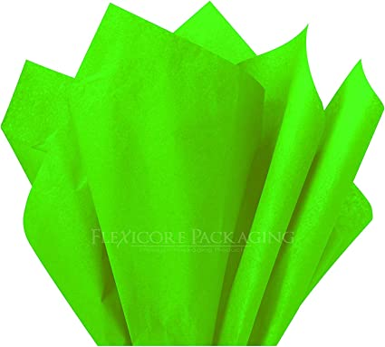 100 Sheets Lime Green Polka Dot 15 Inch X 20 Inch Color Count Flexicore Packaging Lime Green Polka Dot Print Gift Wrap Tissue Paper Size