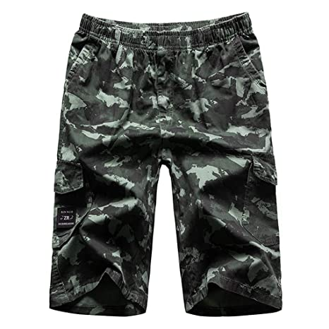Karinao Pantalones cortos para hombre, para ocio, Cargo, Camuflaje ...