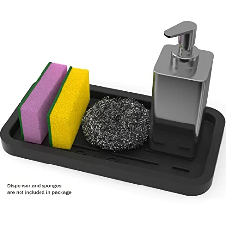Amazon.com: Sponge Holder - kitchen Sink Organizer - Sink Caddy ...