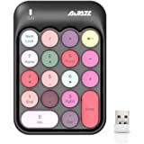 Wireless Numeric Keypad 18 Keys with 2.4G Mini Portable Silent Number Pad USB Receiver Financial Accounting Keyboard Extensio