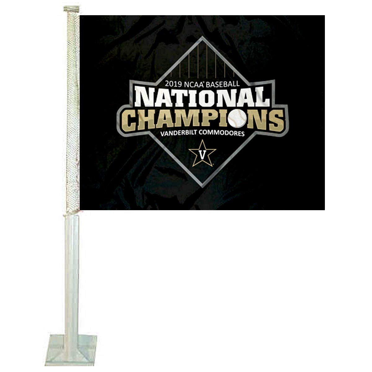 Vanderbilt Commodores 2019 Baseball National Champions Car Flag College Flags and Banners Co