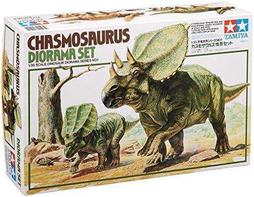 Tamiya 1/35 Dinosaur World Series No.01 chasmosaurus scene s