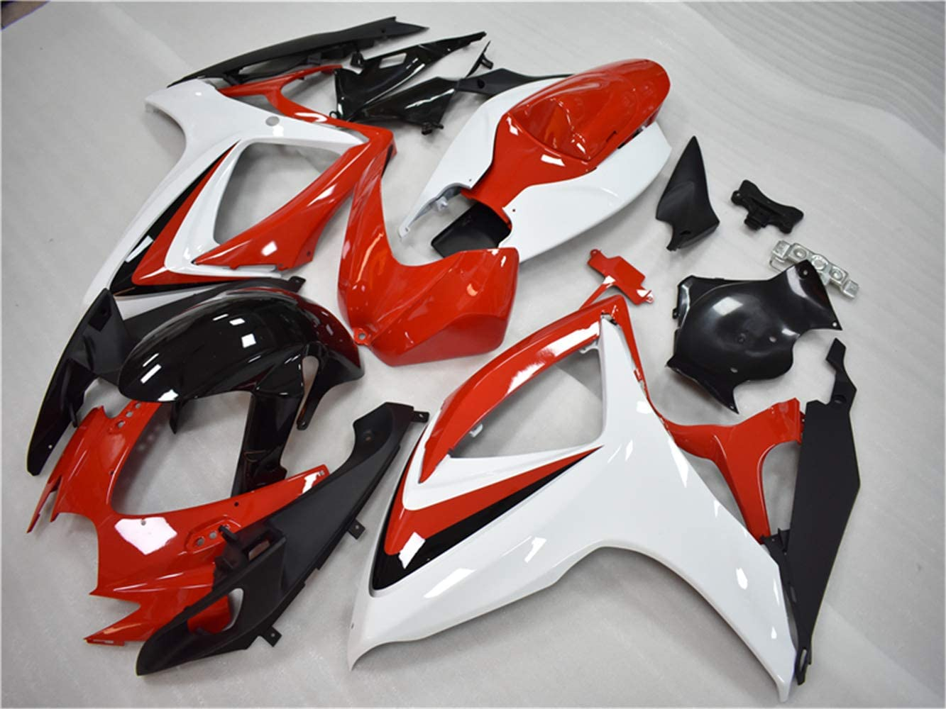 New Orange Black Fairing Fit for SUZUKI 2006 2007 GSXR 600 750 Injection Mold ABS Plastics Bodywork Bodyframe