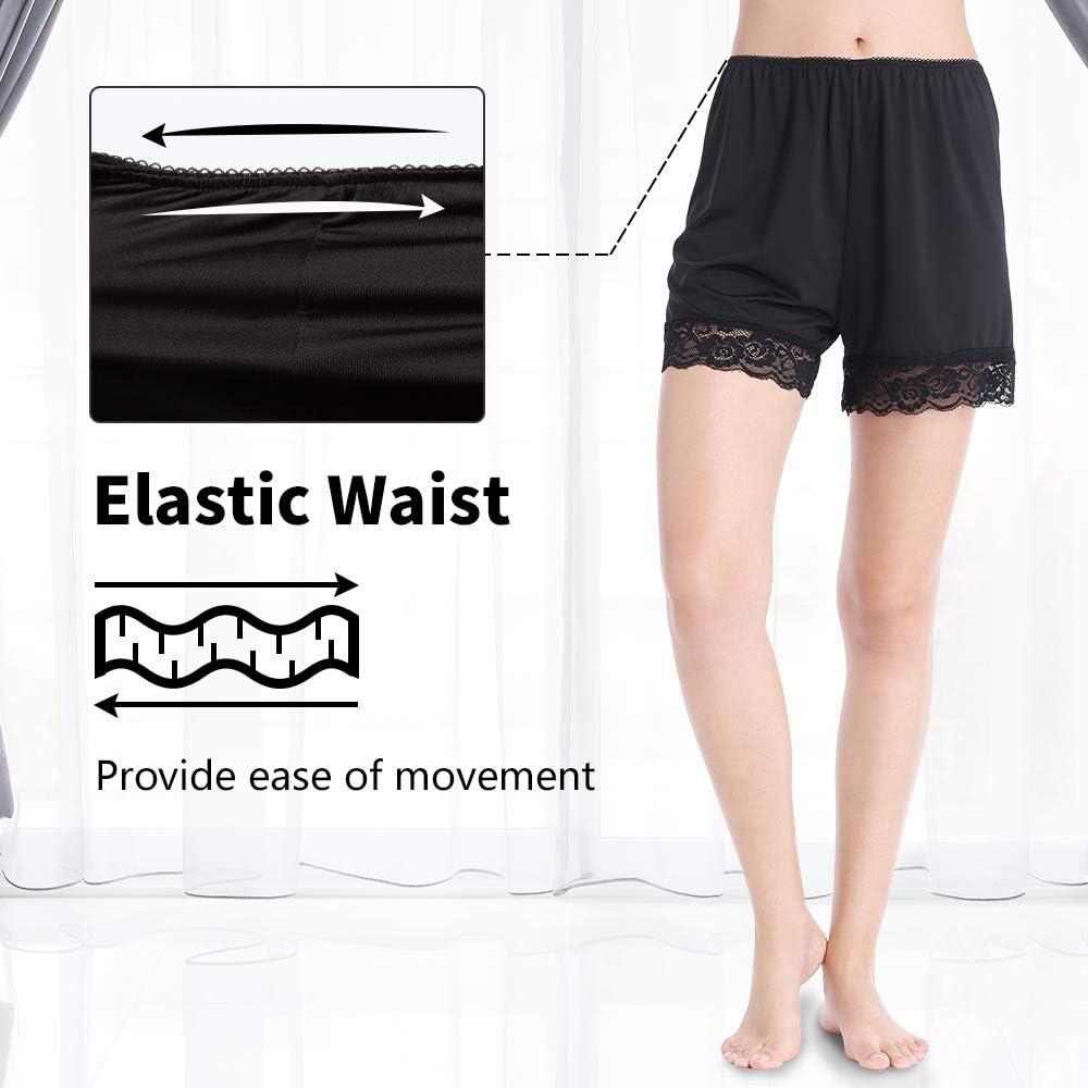 "MANCYFIT Pettipants for Women Half Slip Culotte Shorts Split Skirt Lace Snip 4/"" Inseam"