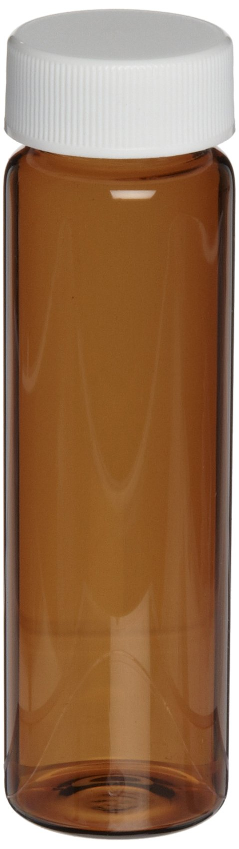 National Scientific Glass Sample Amber Vials with PTFE/Foam Urethane Liner Septum, 40ml Volume (Pack of 100) by National Scientific