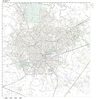 Amazoncom San Antonio TX ZIP Code Map Laminated Home  Kitchen