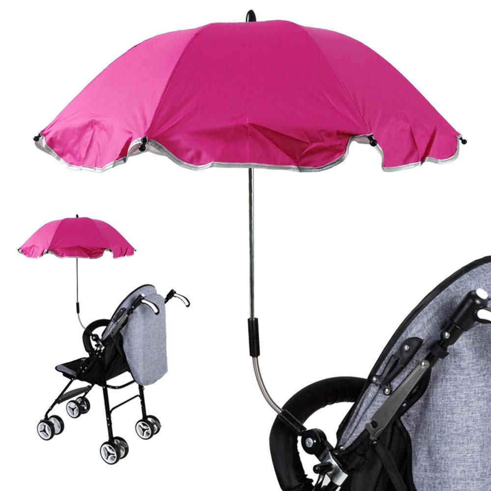 Amazon.com: Universal Baby Stroller UV Protection Umbrella and ...