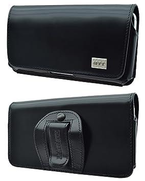 d9290aa849d Original MTT Étui horizontal pour Doro 2404 Étui horizontal en cuir pour  Téléphone Portable avec clip et dragonne de sécurité  Amazon.fr  High-tech