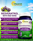Pure Resveratrol with Red Wine Extract - 180 Capsules - Natural Trans Resveratrol Antioxidant Supplement Pills for Weight Loss amp Heart Health - Extra Strength Trans-Resveratrol for Anti Aging Discount