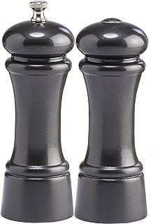 product image for Chef Specialties Elegance Pepper Mill Salt Shaker Set, Gunmetal Metallic