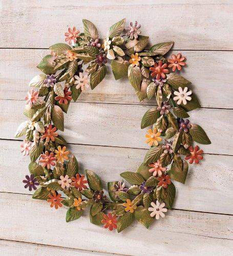 Handmade Recycled Metal Floral Wreath