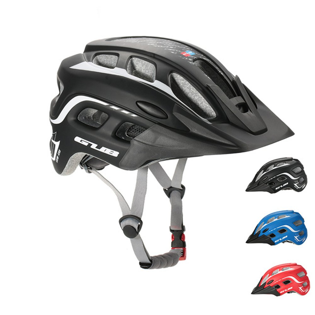 Amazon.com : Gub XX6 Mountain Road Cycling Bicycle Bike In Mold Helmet AM With Visor Unisex Adult Helmet L Size BLACK : Sports & Outdoors