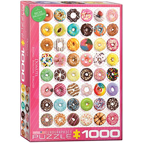 EuroGraphics Donuts Jigsaw Puzzle (1000-Piece) (Best Pc For 1000 Euros)