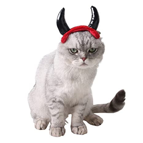 Gato perro mascota moda cuernos Caps Cap para perro gato mascota Hat Navidad Accesorios Decoración Halloween