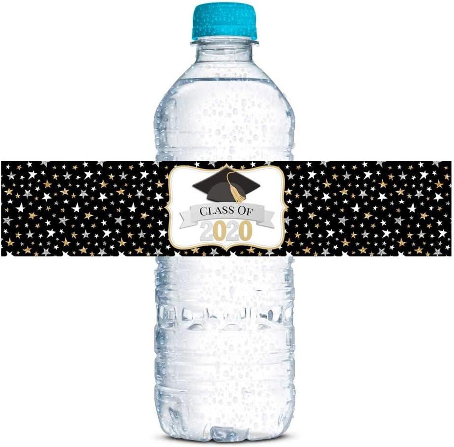 Class of 2019 Graduation Green Personalized Waterproof Water Bottle Labels