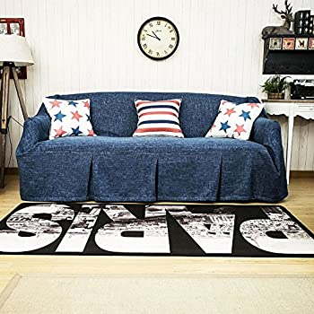 Amazoncom Blue Denim One Piece Sofa Slipcover Cell Phones