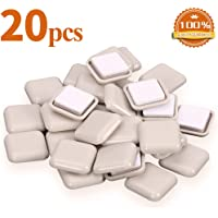 20 PCS Self-Stick Furniture Sliders,1 Inch Square Furniture Sliders for Carpet,Furniture Moving Glides for Furniture-Adhesive Carpet Sliders
