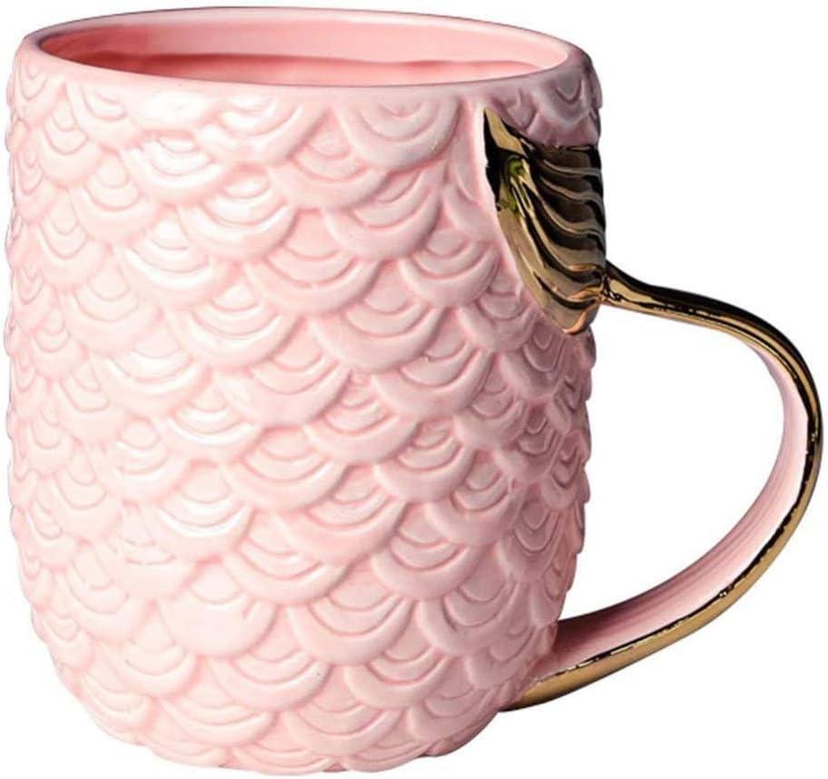 MFZJ Taza de café de Sirena - Taza de cerámica con asa de Cola de Sirena - Regalo para cumpleaños de Navidad Compromiso Nupcial Boda - Adecuado para Estudiantes y Multitud de oficinas