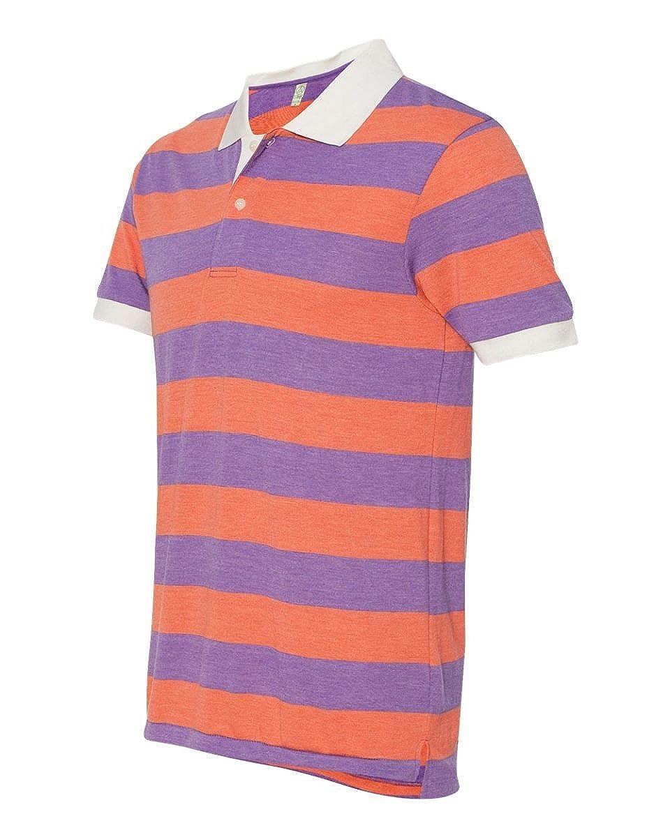 Alternative Mens Short Sleeve Stripe Polo